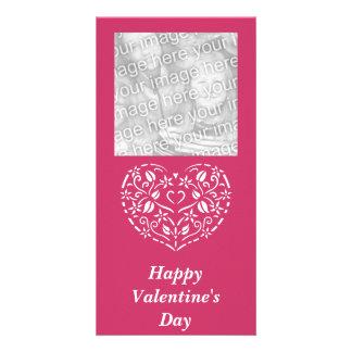 Filigree Heart Photo Valentine Photo Card