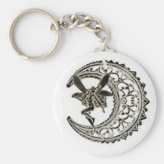 Filigree Moon Fairy Key Ring