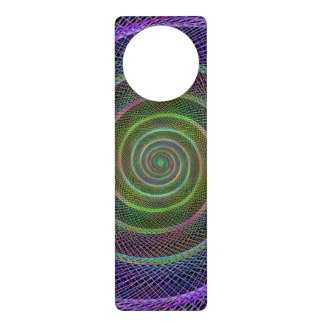 Filigree spiral structure door hangers