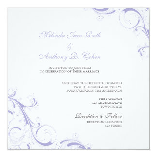 Filigree Swirl Lavender Card