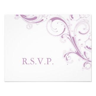 Filigree Swirl Violet RSVP Invite