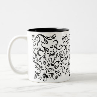 Filigree swirls Two-Tone coffee mug