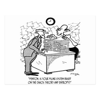 Filing Cartoon 2899 Postcard