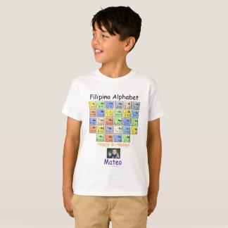 "Filipino Alphabet ""let them wear and teach them"" T-Shirt"