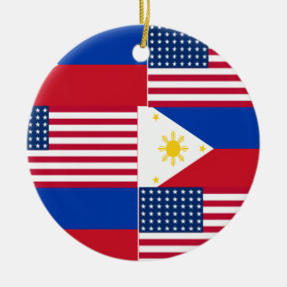 FILIPINO-AMERICAN CERAMIC ORNAMENT
