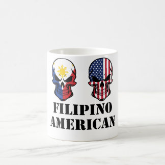 Filipino American Flag Skulls Coffee Mug