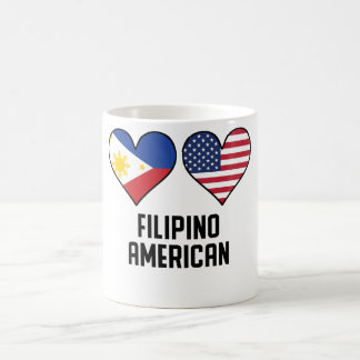 Filipino American Heart Flags Coffee Mug