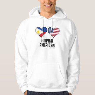 Filipino American Heart Flags Hoodie