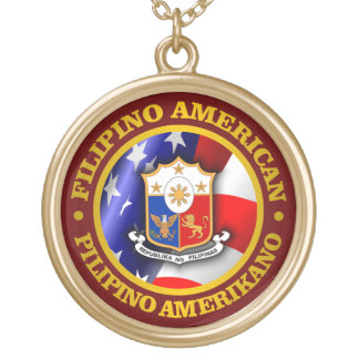 Filipino American Pride Gold Plated Necklace