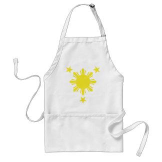 Filipino Basic Sun and Stars - Yellow Standard Apron