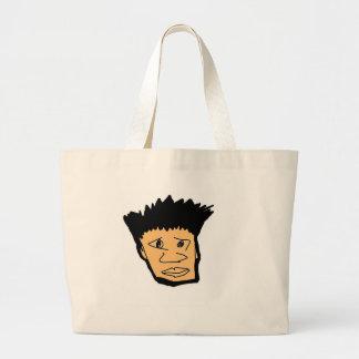 filipino boy  cartoon face collection large tote bag