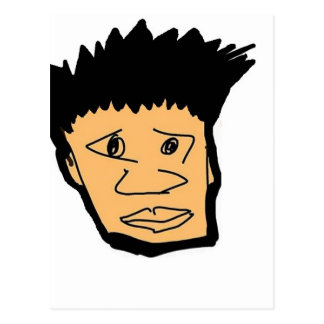 filipino boy  cartoon face collection postcard