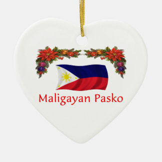 Filipino Christmas Ceramic Ornament