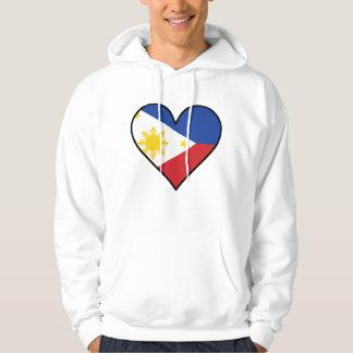 Filipino Flag Heart Hoodie
