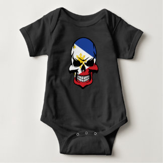 Filipino Flag Skull Baby Bodysuit