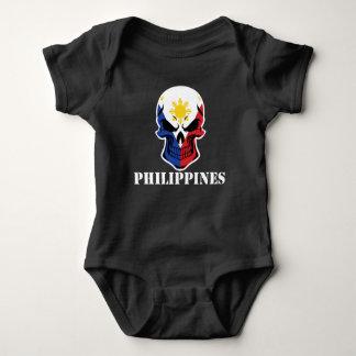Filipino Flag Skull Philippines Baby Bodysuit