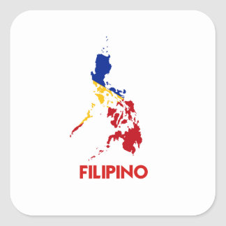 FILIPINO MAP SQUARE STICKERS