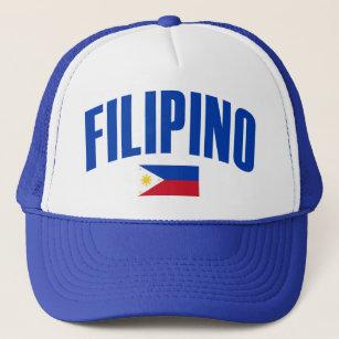 448cc20eff0 Filipino Philippine Flag Trucker Hat