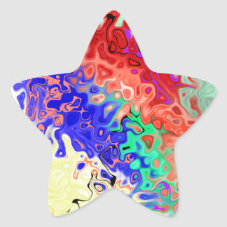 Fill Abstract Star Sticker