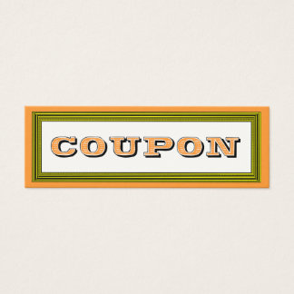 Fill in the Blanks Gift Certificate Coupon Card