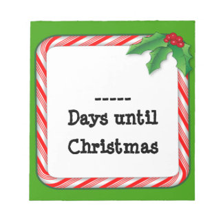 Fill in the days 'til Christmas Notepad, Candy Note Pads