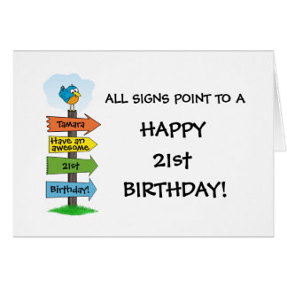 Family 21st birthday greeting cards zazzle fill in the signs fun 21st birthday card bookmarktalkfo Image collections