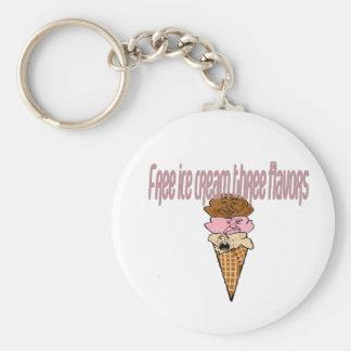 Fill Keychain Free ice cream three flavors