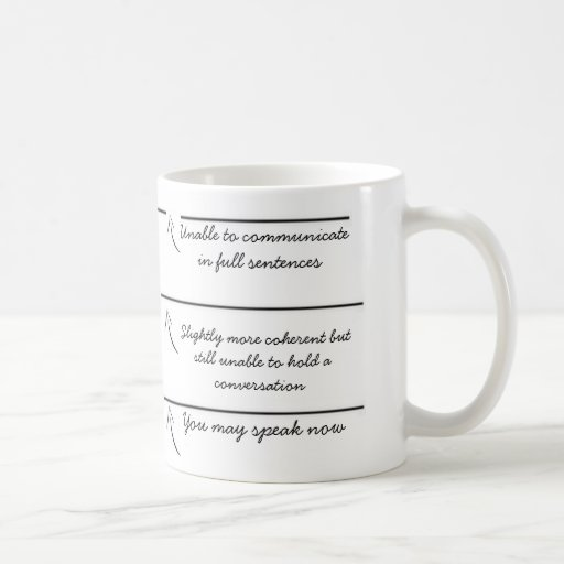Fill lines you may speak now funny coffee mug