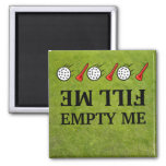 Fill me-empty me golf Dishwasher Magnets