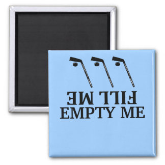 Fill me-empty me hockey Dishwasher Magnets