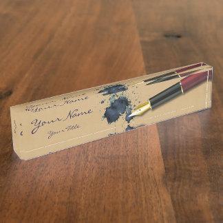 Filler Fountain Pen with Ink Blot - Desk Nameplate