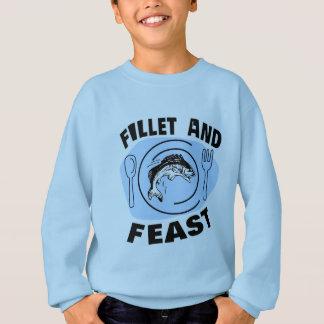 Fillet and Feast - Fishing Humor Sweatshirt