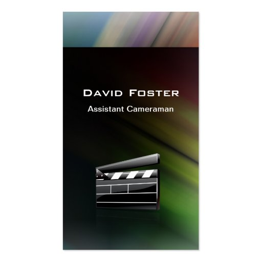 Film Assistant Cameraman Director Business Card Template