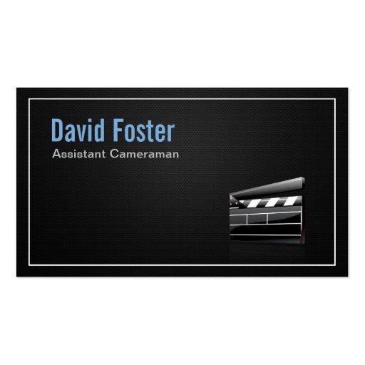 Film Assistant Cameraman Director Business Card Templates