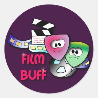 Film Buff Round Sticker
