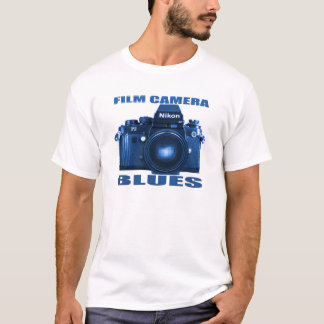FILM CAMERA BLUES Nikon F-3 T-SHIRT