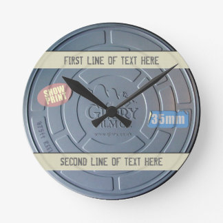 FILM CAN - CUSTOMISABLE CLOCK WITH YOUR TEXT