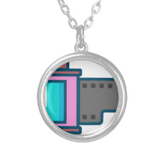 Film Canister Silver Plated Necklace