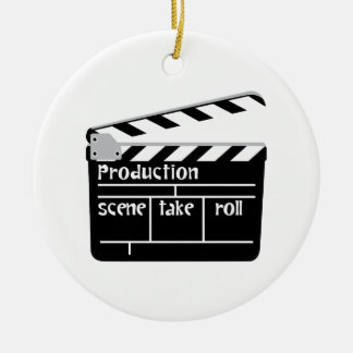 Film Clapper Ceramic Ornament