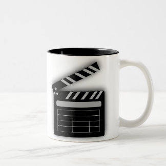 FILM CLAPPERBOARD Two-Tone COFFEE MUG
