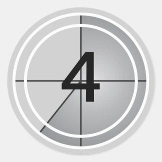 Film Countdown Classic Round Sticker