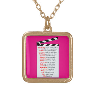 Film Crew Gold Plated Necklace
