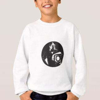 Film Crew Lighting Fresnel Spotlight Circle Woodcu Sweatshirt