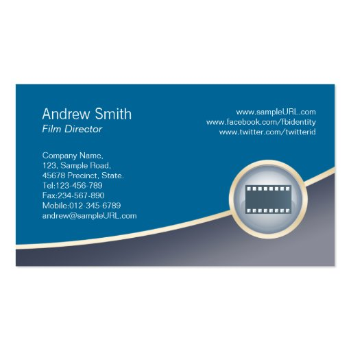 Film Director Business Card Pen Icon
