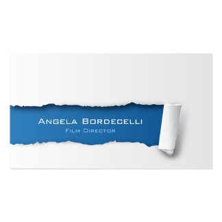 Film Director Business Card Ripped Paper