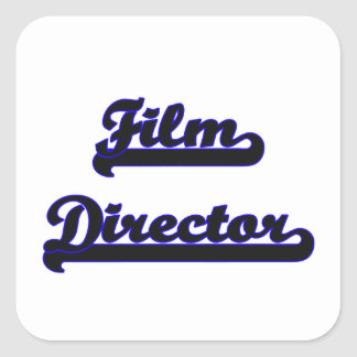 Film Director Classic Job Design Square Sticker