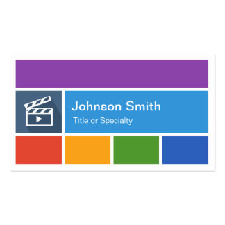 Film Director - Creative Modern Metro Style Double-Sided Standard Business Cards (Pack Of 100)