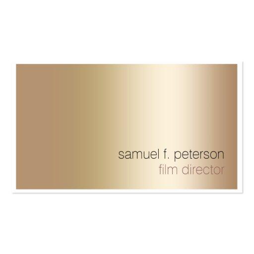 Film Director Elegant Bold Gold Minimalist Business Card Template