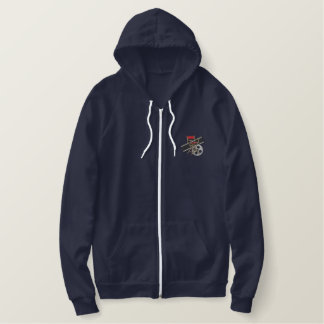 Film Director Embroidered Hooded Sweatshirts