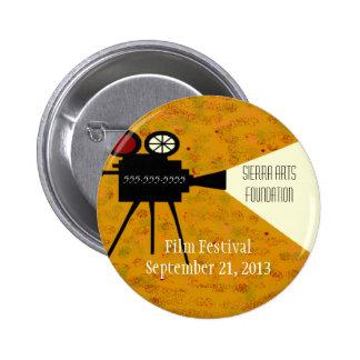 Film Festival Camera 6 Cm Round Badge